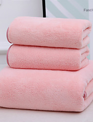 cheap -Superior Quality Bath Towel Set, Solid Colored 100% Coral Fleece 1 pcs