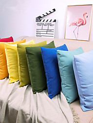 cheap -1 pcs Linen Pillow Cover, Solid Colored Contemporary Classic Fashion Throw Pillow