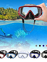 cheap -Snorkel Mask Underwater Two-Window - Snorkeling Scuba Silicone - For Adults Red Blue White Black
