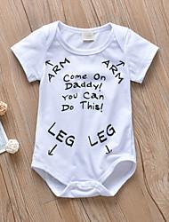 cheap -Baby Boys' Active / Basic Print Print Short Sleeves Bodysuit White