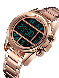 Недорогие -Муж. электронные часы Цифровой Стильные Нержавеющая сталь Черный / Белый / Синий 30 m Защита от влаги Календарь Секундомер Цифровой Мода - Синий Золотистый Розовое золото Два года Срок службы батареи