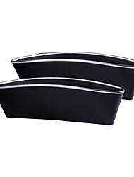 cheap -2Pcs ABS Car Seat Crevice Storage Organizer Caddy Catcher Box Seat Slit Pocket