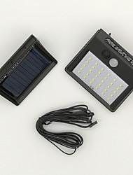 cheap -1pc 6 W Solar Wall Light Waterproof / Solar / Infrared Sensor Cold White 3.7 V Outdoor Lighting / Courtyard / Garden 30 LED Beads