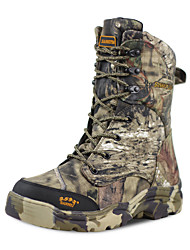 cheap -Men's Hiking Shoes Hunting Shoes Hiking Boots Waterproof Windproof Breathable Rain Waterproof Camo / Camouflage Hunting Hiking Autumn / Fall Spring Gray+Green / Anti-Slip