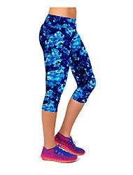 cheap -Women's High Waist Yoga Pants Capri Leggings Butt Lift Navy Blue Running Fitness Gym Workout Sports Activewear High Elasticity Skinny