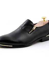 cheap -Men's Formal Shoes PU Spring & Summer / Fall & Winter Loafers & Slip-Ons Breathable Black / Burgundy / Brown / Office & Career