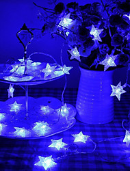 cheap -LOENDE 10m 100 LEDs Star Shaped Theme String Fairy Lights Warm White / RGB / White Solar Powered Christmas Holiday Wedding Decoration Party Lighting