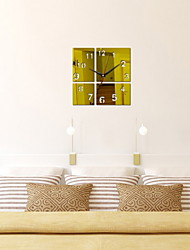 cheap -Modern Style Acrylic Square Indoor / Outdoor Battery Decoration Wall Clock Mirror Polished No