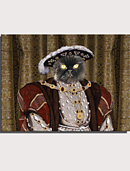 cheap -E-HOME Stretched Canvas Art Cute Animal Series - Royal Cat Decoration Painting  One Pcs