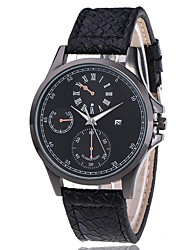 cheap -Men's Sport Watch Quartz Sporty Stylish Black / Brown 30 m Chronograph Creative New Design Analog Sparkle Casual - Brown Black / White White / Brown Two Years Battery Life