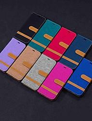 cheap -Case For LG LG Stylo 5 / LG K40 / LG K10 2018 Wallet / Card Holder / with Stand Full Body Cases Tile Hard Textile / LG G6