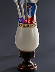 Недорогие -Держатель для зубных щеток Креатив / Многофункциональный Современный Латунь 1шт На стену