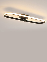 cheap -Linear Flush Mount Lights Ambient Light Painted Finishes Metal LED 110-120V / 220-240V Warm White / Cold White / Dimmable With Remote Control