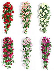 cheap -Artificial Flowers 1 Branch Classic Wedding European Roses Eternal Flower Wall Flower
