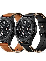 abordables -Bracelet de Montre  pour Samsung Galaxy Watch 46 / Samsung Galaxy Watch 42 Samsung Galaxy Boucle Moderne Vrai Cuir Sangle de Poignet