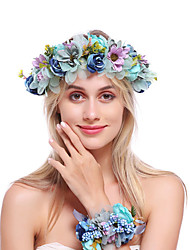 cheap -Flannel / Alloy Headbands / Hair Accessory with Floral 1 Bundle Wedding / Special Occasion Headpiece