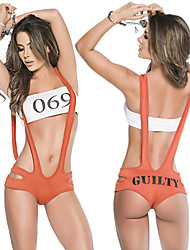 cheap -Prisoner Cosplay Costume Masquerade Adults' Women's Cosplay Halloween Christmas Halloween Carnival Festival / Holiday Polyster Orange Carnival Costumes Quotes & Sayings