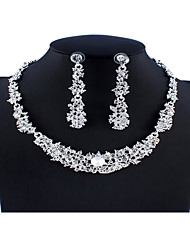 cheap -Women's White Bridal Jewelry Sets Link / Chain Totem Series Luxury Fashion Elegant Rhinestone Earrings Jewelry Silver For Wedding Party Engagement Prom Holiday Festival 1 set