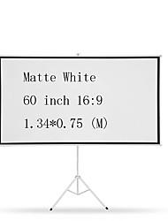 Недорогие -16:9 60 дюймовый MaxWhite Экран на штативе