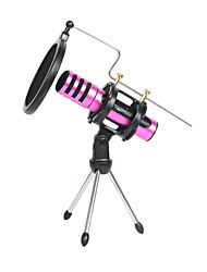 cheap -Adjustable Desktop Tripod Studio Condenser Stand For Microphone With Windscreen Filter Cover Rubber Rings