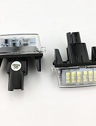 Недорогие -2 шт. / Компл. 18 светодиодные лампы номерного знака света для honda fit джазовая одиссея crv frv hr-v