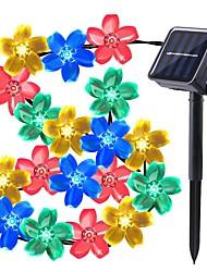 Недорогие -Loende 7м огней в форме цветка 50 светодиодов, светодиодный теплый белый / RGB / белый / водонепроницаемый / на солнечной энергии на Рождество / день благодарения