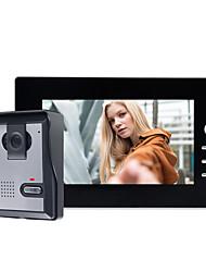 Недорогие -7-дюймовый проводной 800 * 480 пикселей новый цветной HD видео домофон сфотографировал дверной звонок домашней сигнализации системы громкой связи один на один видео домофон