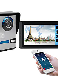 Недорогие -618fa117 дюймов емкостный сенсорный экран видеокамеры проводной видео дверной звонок Wi-Fi / 3 г / 4 г удаленного вызова разблокировки хранения визуальный домофон один в один