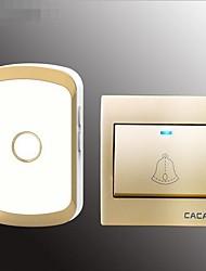 cheap -Home Doorbell One For One Wireless Ac Doorbell 86 Box Electronic Doorbell Waterproof Old Caller Board