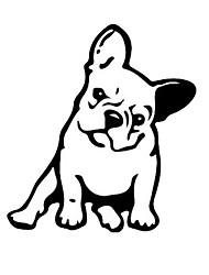 Недорогие -мода французский бульдог собака автомобиль стикер украшения автомобиля