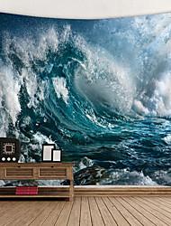 cheap -Beach Theme Wall Decor 100% Polyester Classic / Mediterranean Wall Art, Wall Tapestries Decoration