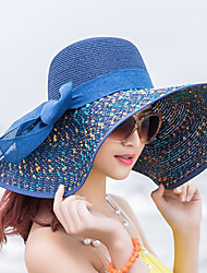 cheap -Women's Active Basic Cute Straw Straw Hat Sun Hat-Color Block All Seasons Beige Navy Blue Khaki