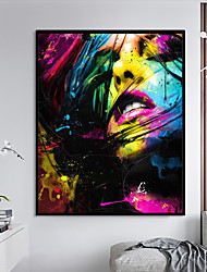 cheap -Framed Art Print Framed Set - Abstract People PS Oil Painting Wall Art