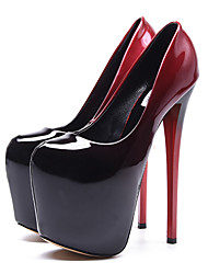 cheap -Women's Heels Stiletto Heel Closed Toe Synthetics British / Minimalism Fall / Spring & Summer Black / Red / Wedding / Party & Evening