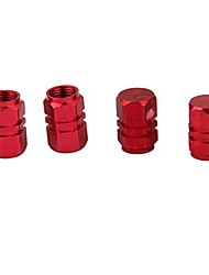 cheap -4x Tire Wheel Rims Stem Air Valve Caps Tyre Cover Car Truck Red
