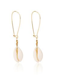 cheap -Women's Drop Earrings Dangle Earrings Geometrical Shell Bohemian Fashion Gold Plated Shell Earrings Jewelry Gold For Daily Holiday 1 Pair