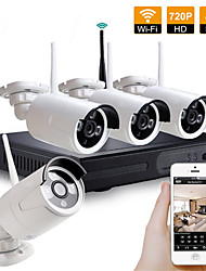 cheap -4ch CCTV Camera Wireless Nvr Kit Security System Kit