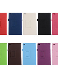 cheap -Case For Lenovo Lenovo Tab 4 8 Plus / Lenovo Tab 4 8 / Lenovo Tab 4 10 Plus Shockproof / with Stand / Ultra-thin Full Body Cases Solid Colored Hard PU Leather
