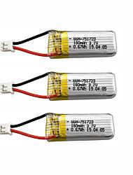 Недорогие -A20 A20W 3.7V 180mAh 3шт батарея Аккумуляторная батарея / Быстрая зарядка