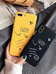 cheap -Case For Apple iPhone XR / iPhone XS Max / iPhone X Frosted / Pattern Back Cover Word / Phrase Hard Plastic