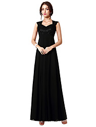 cheap -A-Line V Wire Floor Length Chiffon / Lace Elegant Formal Evening Dress with Lace Insert 2020