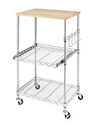 Недорогие -прочная металлическая кухонная микроволновая печь с регулируемыми полками и фиксирующими колесами