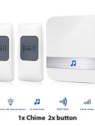 cheap -Wireless Two to One Doorbell Music / Ding dong Non-visual doorbell / Sound adjustable Desktop installation / Wall Mounting / Free Standing Commercial / Indoor / Outdoor