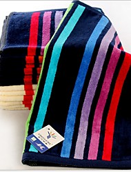 cheap -Superior Quality Wash Cloth, Striped Pure Cotton Bathroom 1 pcs