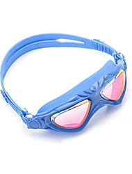 Недорогие -плавательные очки очки кейс Тренировки УФ-защита покрыло Нет утечки Удобный Для Детские Поликарбонат Поликарбонат Другое синий