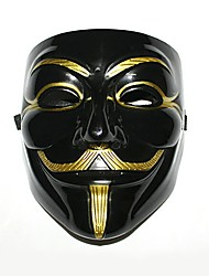 cheap -Cosplay Costume Mask Masquerade Inspired by V for Vendetta Black Halloween Christmas Christmas Halloween Carnival Adults' Men's Women's