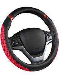 Недорогие -чехлы на рулевые колеса из кожзаменителя / из каучука / текстильные 38см черный / синий / черный / кремовый / черный / красный для универсальных универсальных моторов все годы