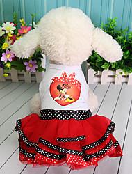 cheap -Dress Dog Clothes Purple Red Costume Cotton Character Lace Princess Dresses&Skirts Cute S M L XL XXL