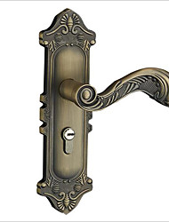 cheap -European-style green door lock indoor wooden door handle lock bedroom door bearing lock antique lock