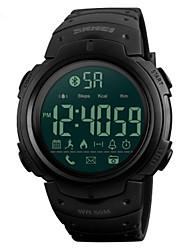 Недорогие -SKMEI Муж. электронные часы Цифровой силиконовый Черный / Зеленый 30 m Защита от влаги Bluetooth Smart Цифровой На открытом воздухе Мода - Черный Зеленый Два года Срок службы батареи
